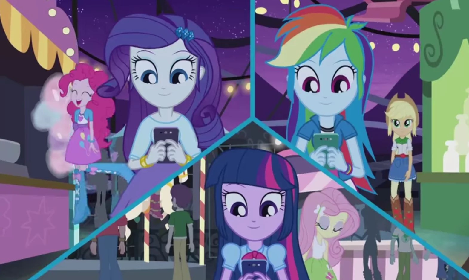 5 New My Little Pony Equestria Girls Rainbow Rocks Shorts Released To Pump Up Film S Release Rotoscopers