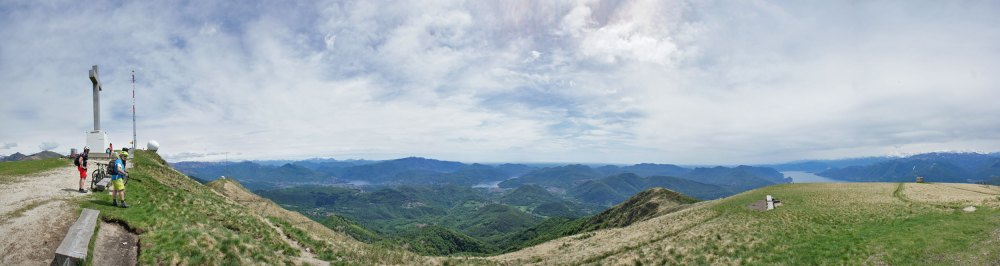 Panorama vom Monte Lema