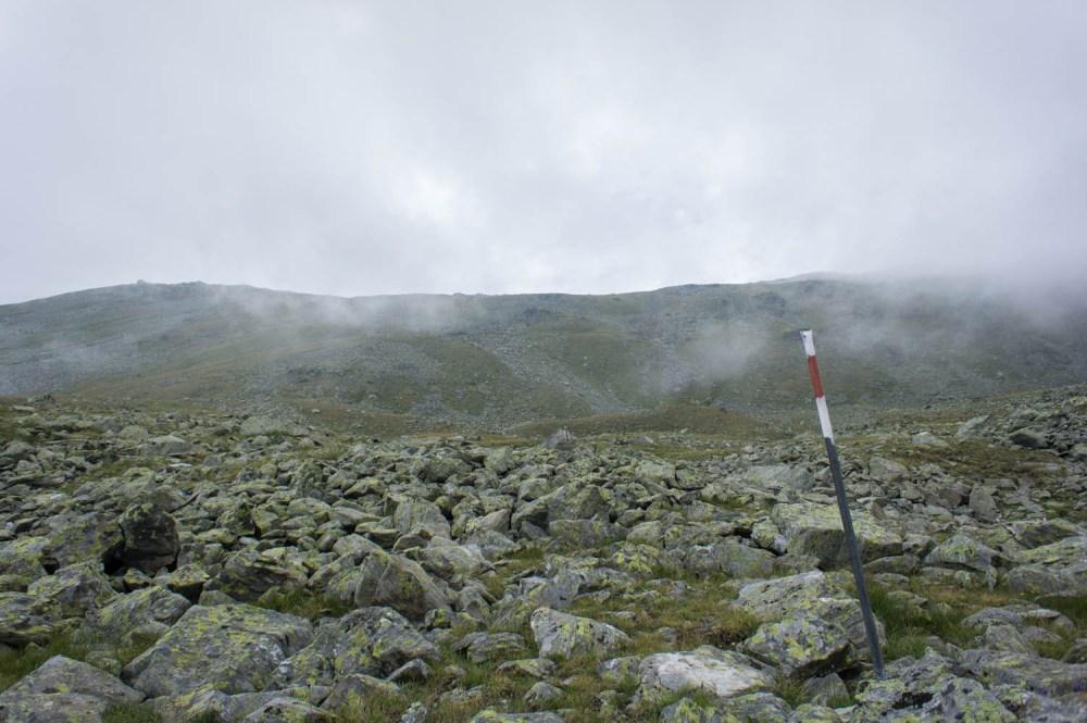 Aufstieg zum Berggipfel
