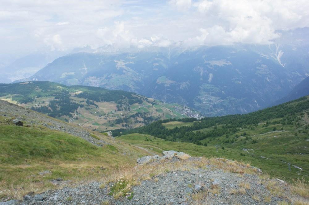 Sicht auf Törbel, Visperterminen, Staldenried und Gspon