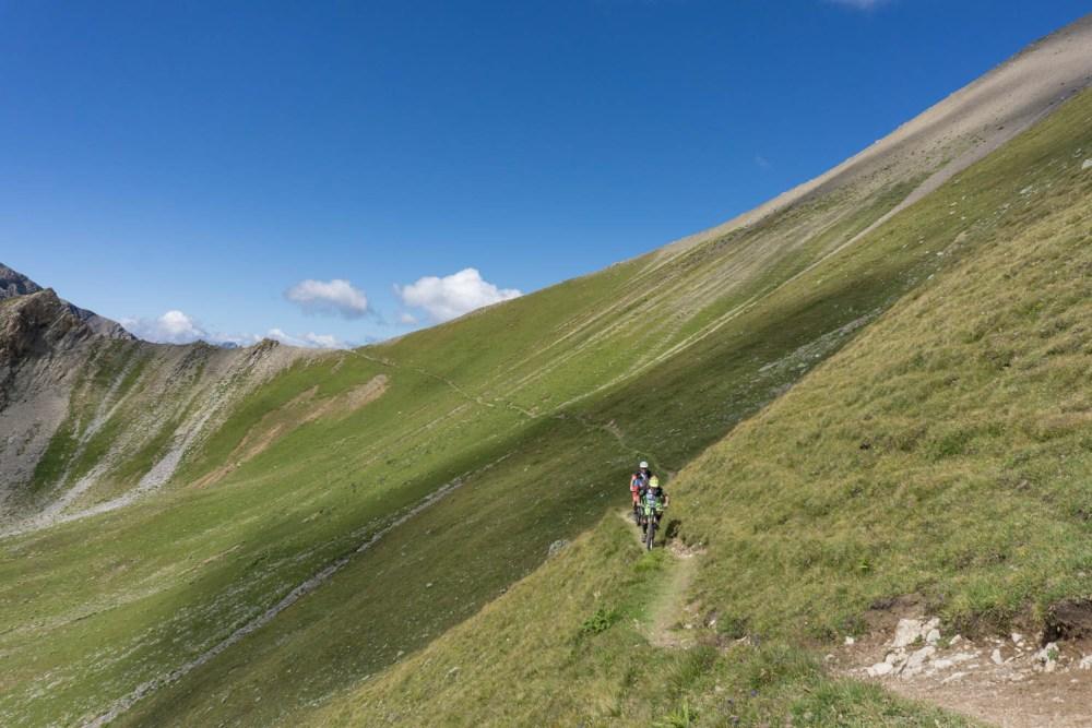 Trail zwischen dem Culmet und dem namenlosen Übergang