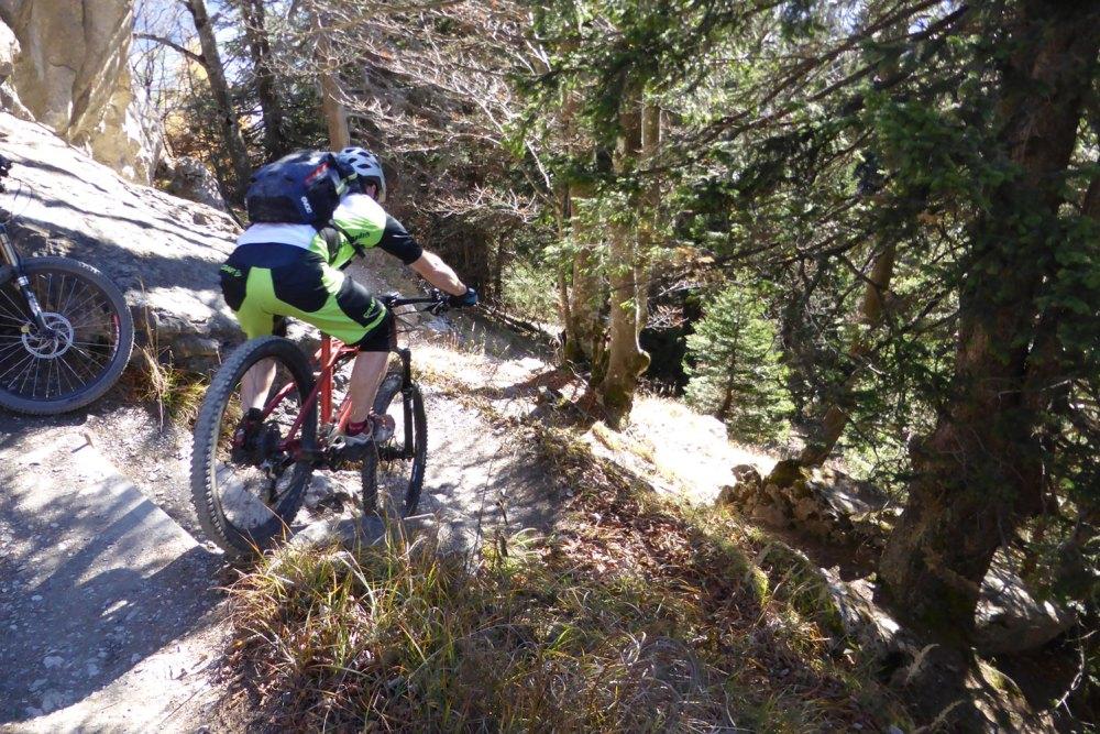 Gipfeltrail für Rotscher beim Pizalun