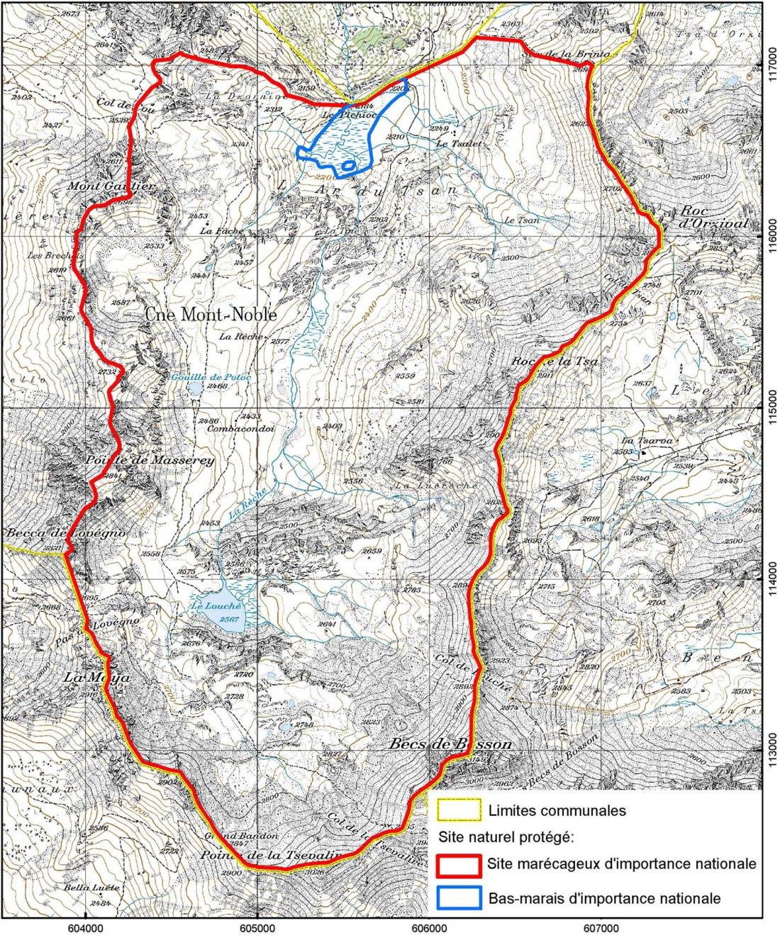 Val-de-Réchy-Karte
