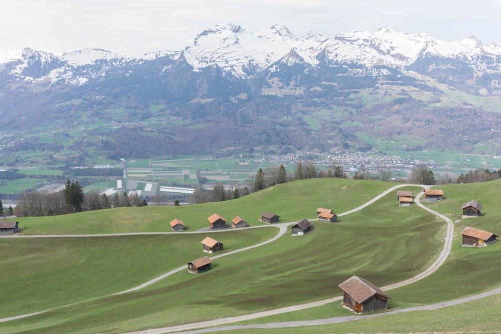 Ländle mit Sicht gegen die Schweiz