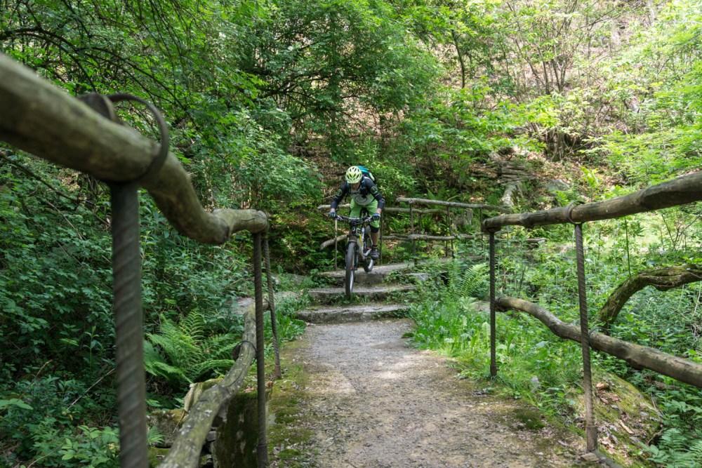 Trail oberhalb Locarno