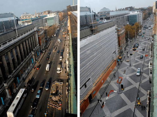 Exhibition Road Before-and-After