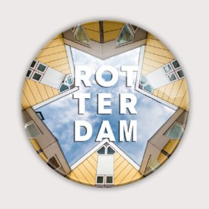 Glasmagneet met Rotterdamse kubuswoningen