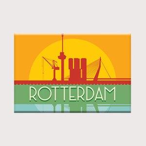 Koelkastmagneet met silhouet van Rotterdam