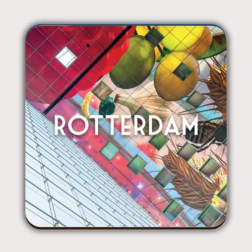 Onderzetter met de Rotterdamse Markthal