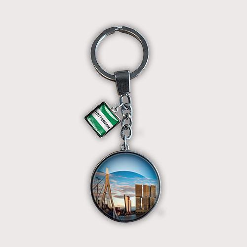 Rotterdamse sleutelhanger met skyline