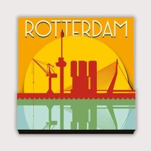 koelkastmagneet met de Rotterdam Erasmusbrug