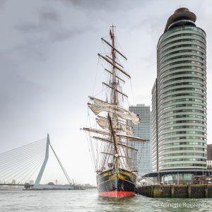 Clipper Stad Amsterdam aan de Wilhelminapier