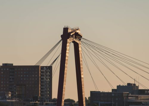 de willemsbrug, willemsbrug, rotterdam, zonsopgang