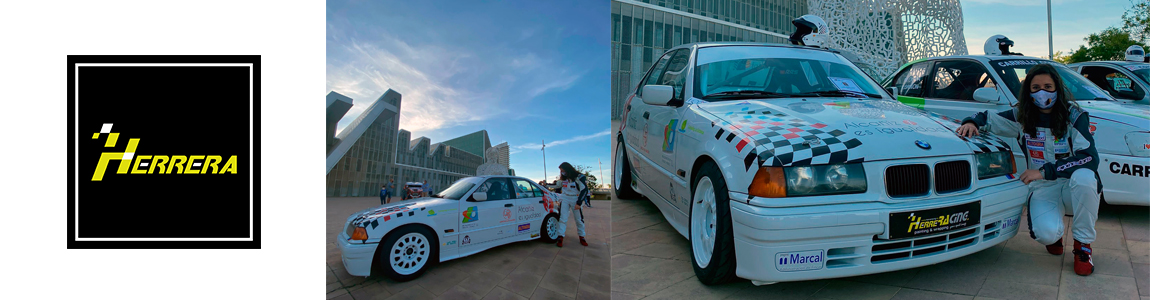 Rotulación BMW y casco Laura Aparicio Rótulos Herrera Alcañiz