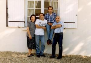 Our family, Bordeaux, 1990.