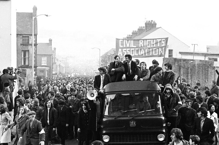 3 March - The marchers reach the top of Westland Street in the Bogside (Robert White).JPG
