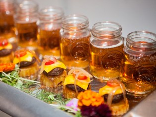 Not an old fashion catering company, ROUGE introduces stylish food such as our Burger & Fry Slider complete with Craft Beer Shooter Photo courtesy of Ann-Marie VanTassell Photography