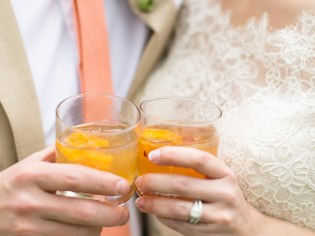 Cheers to the happy couple – ROUGE offers a variety of hand-crafted specialty cocktails. --- Photo courtesy of Living Radiant Photography.