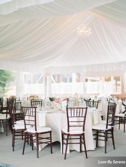 As a full service caterer, ROUGE will help you with everything from menu planner to linens to chair rental. --- Photo by Love By Serena.