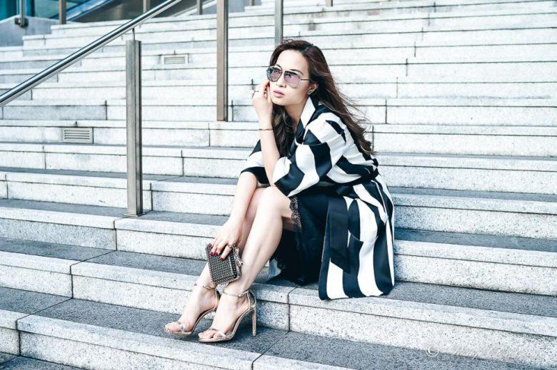 Sarah Lai The Thelma Kimono - Styling with slip dress