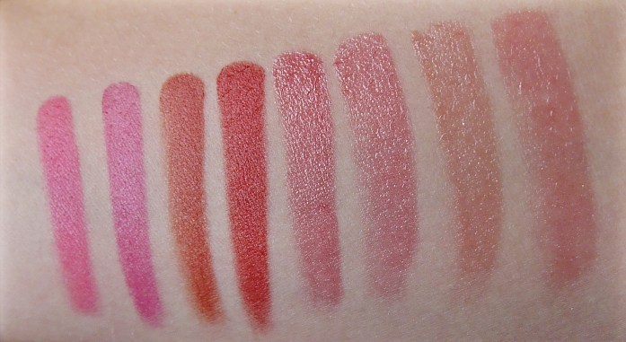 Clinique swatches