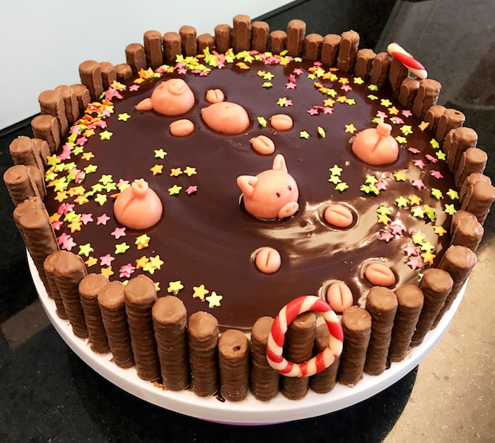 Pig Pool-Party Cake with Weltbild.ch