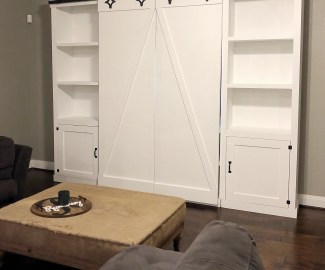 DIY double barn door media center