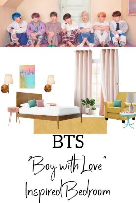 "BTS bedroom Design ""Boy with Love"" Inspired"
