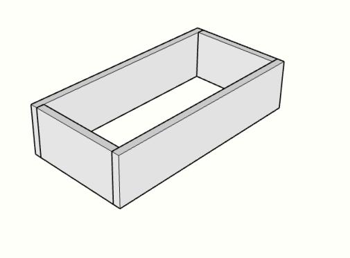 DIY kitchen island drawer