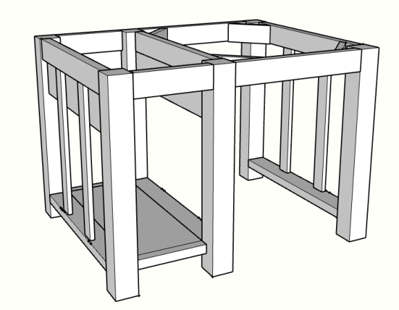 Diy kitchen island drawer enclosure