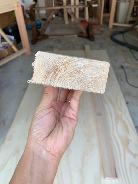 twisted wood board