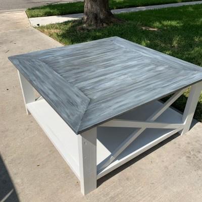 DIY Square Farmhouse Coffee Table