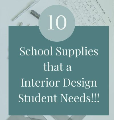 school supploes for interior design students