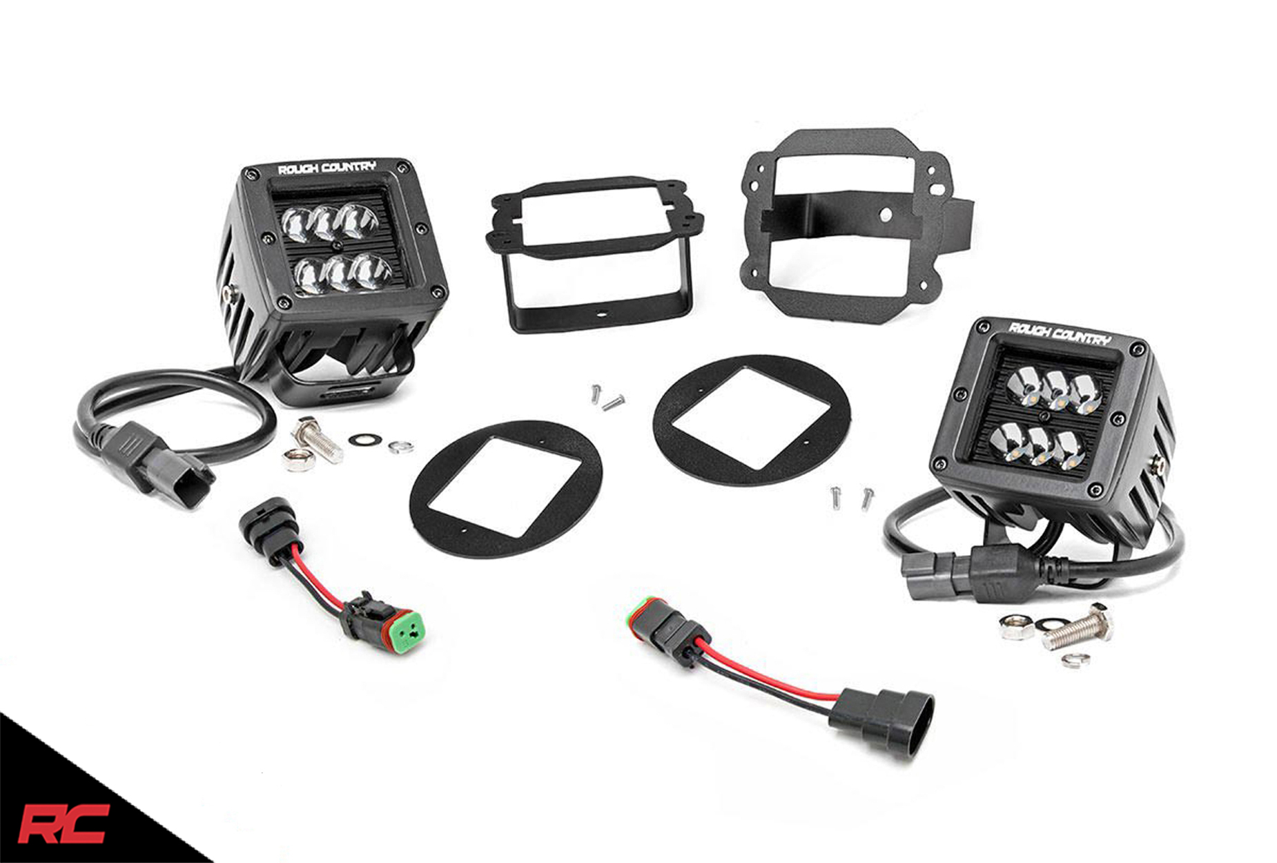 Rough Country Dual Led Cube Fog Light Kit Fits
