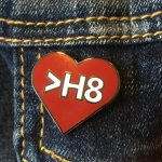 Love Greater Than Hate Enamel Pin by Snerks & Quirks