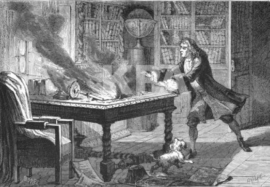 Isaac_Newton_laboratory_fire