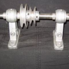 Picture showing the shaft and pulleys
