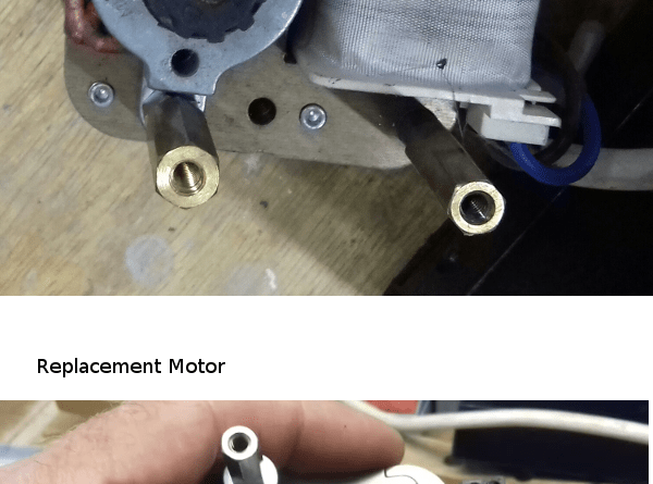 Evans CR2 original and replacement motors