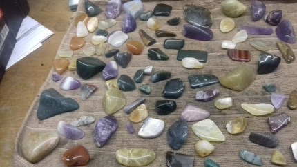 polised tumbled stones after 5 weeks of rock tumbling