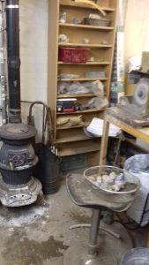 lapidary workshop heater