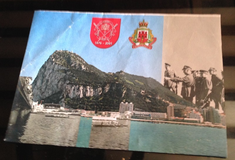 Postcard symbolising the volunteer movement that started in the first world war working with the Gib Rowing Club and the GibReg