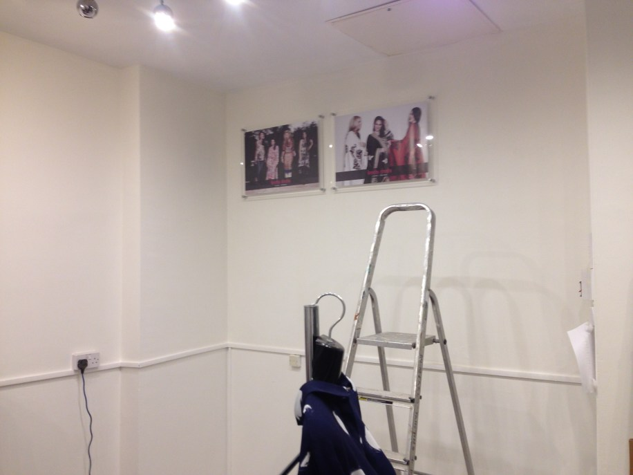 Putting up pctures for peanuts