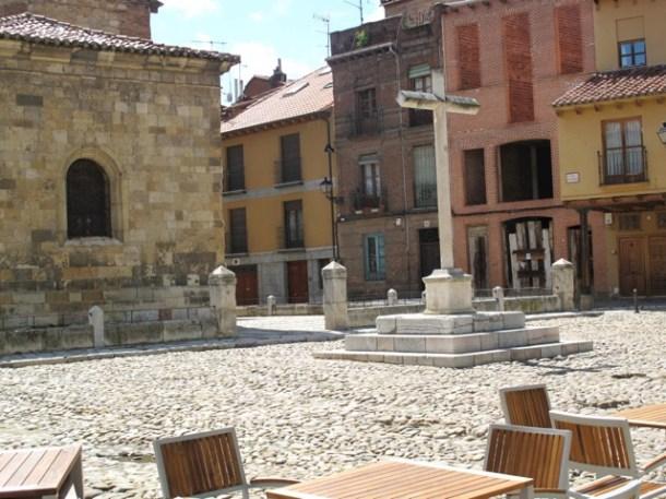 Plaza de Santa María del Camino in the old part of León