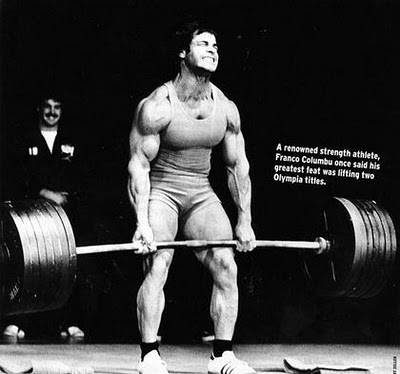 Franco Columbu and Heavy Deadlift