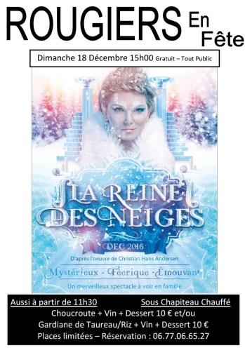 La Reine des Neiges à Rougiers