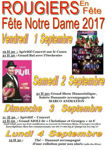 Fete de Notre Dame 2017