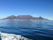 View of Cape Town from Robben Island Ferry