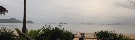 Pano of the view at the resort