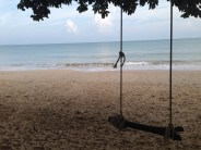 Swing along serene beach, Koh Lanta National Park