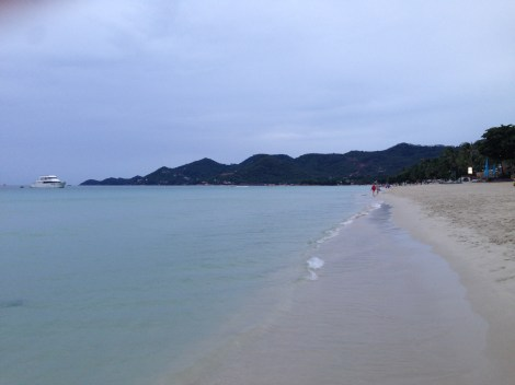 Main beach after a rain in Koh Samui